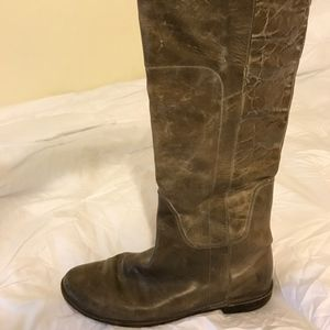 FRYE Paige Tall Leather Riding Boots Womens